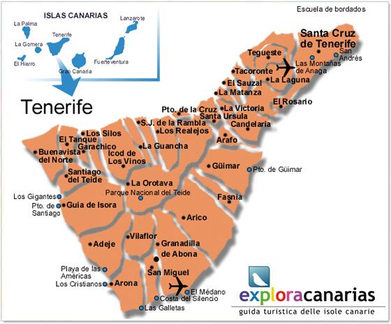 Isola Tenerife Cartina.La Guida Di Tenerife Isole Canarie