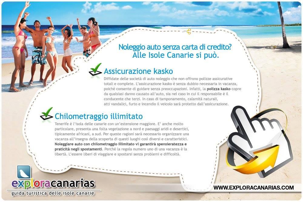 Noleggio Auto Isole Canarie senza Carta di Credito